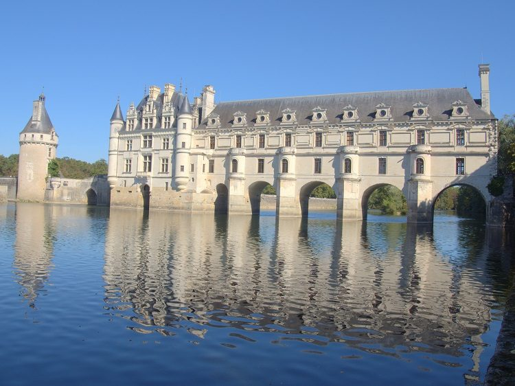 Chenonceau Chateau, which is actually a bridge over the River Cher.
