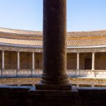 The round palace built by Carlos V in the grounds of the Alhambra in Granada