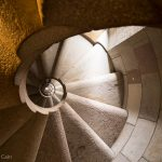 Spiral staircase in one of the towers in the Sagrada Familia.