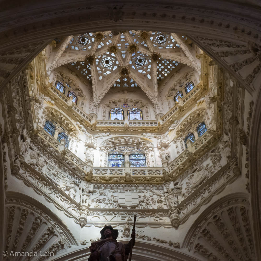 The lantern window inside Burgos Cathedral.