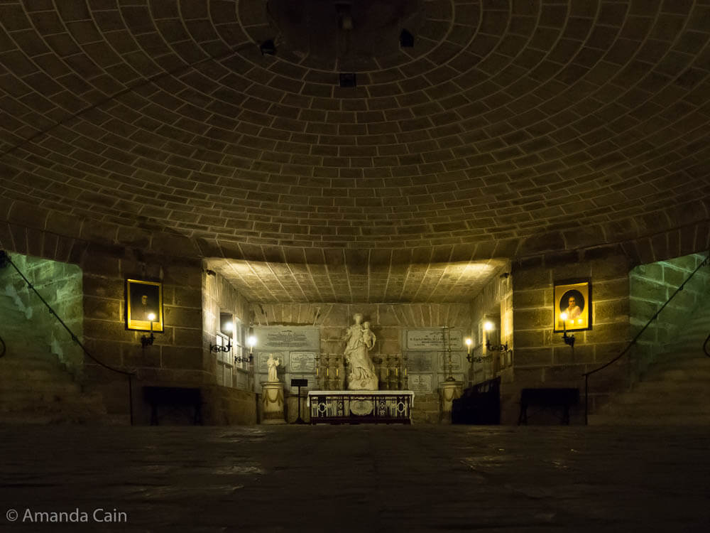 The crypt of Cádiz Cathedral.