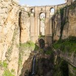 The Puente Nuevo of Ronda, crossing the 120m deep gorge.