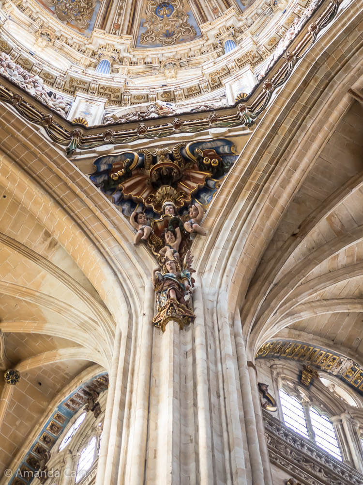 Inside Salamanca Cathedral.