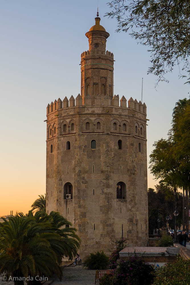 "The ""Tower of Gold"" in Seville."