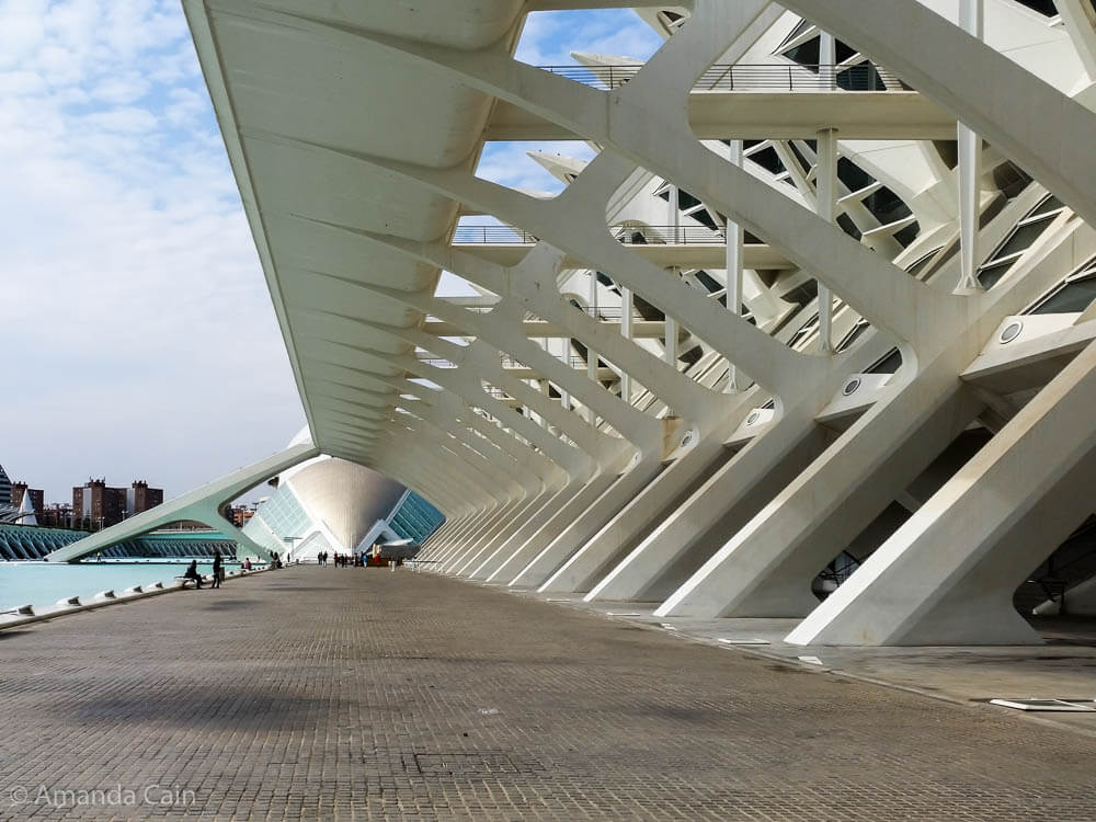Valencia's ultra-modern Art and Science City.