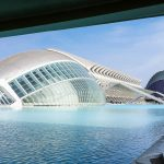 The Hemisferic, in Valencia's ultra-modern Art and Science City.