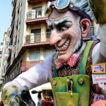 A sculpture created for Valencia's Las Fallas festival. After 3 days of being on display in the street it will be burned in a city-wide bonfire.