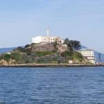 A picture of Alcatraz Island in the bay.