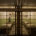 A picture of two furnished cells in Alcatraz.