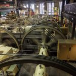 A picture of the large cable winders for San Francisco's cable cars.