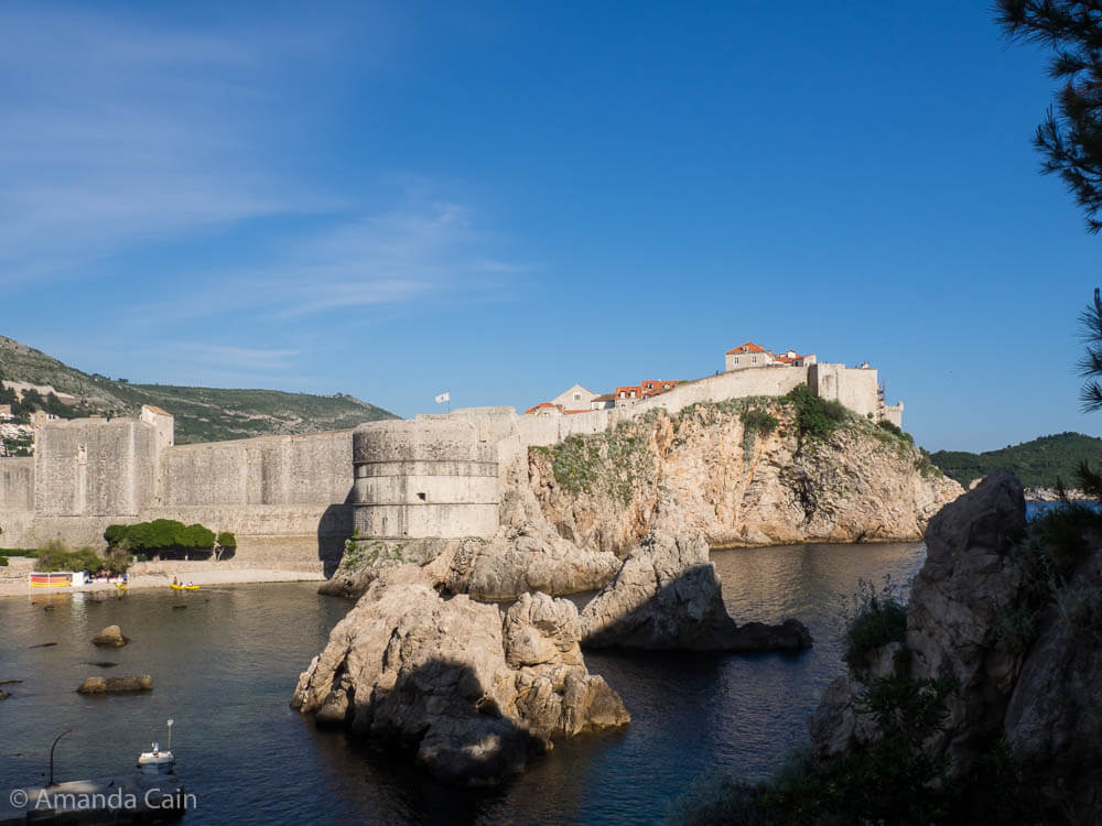 The Old Town of Dubrovnik, rising out of the Adriatic Sea.