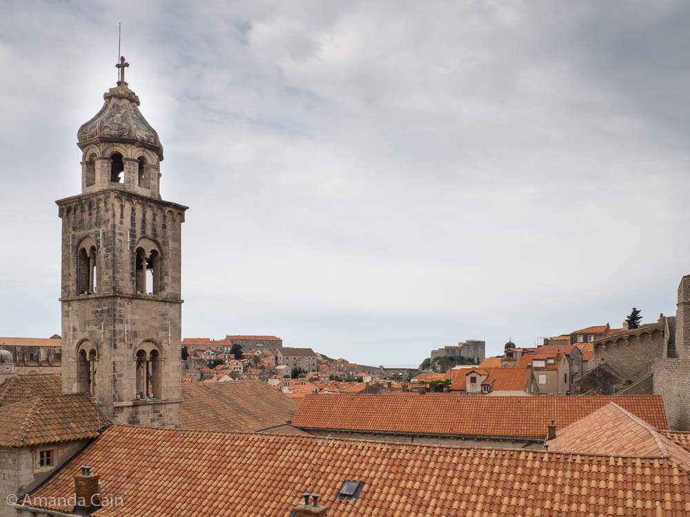 The red terracotta roofs of Dubrovnik's Old Town.
