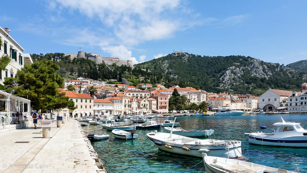 The picturesque town of Hvar in Croatia.