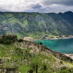 The walls and fortress of Kotor overlooking the spectacular location in the bay.