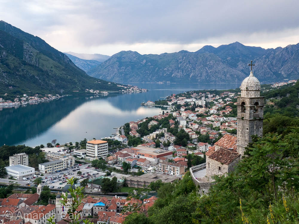 The church of Our Lady of Health overlooking the Bay of Kotor.