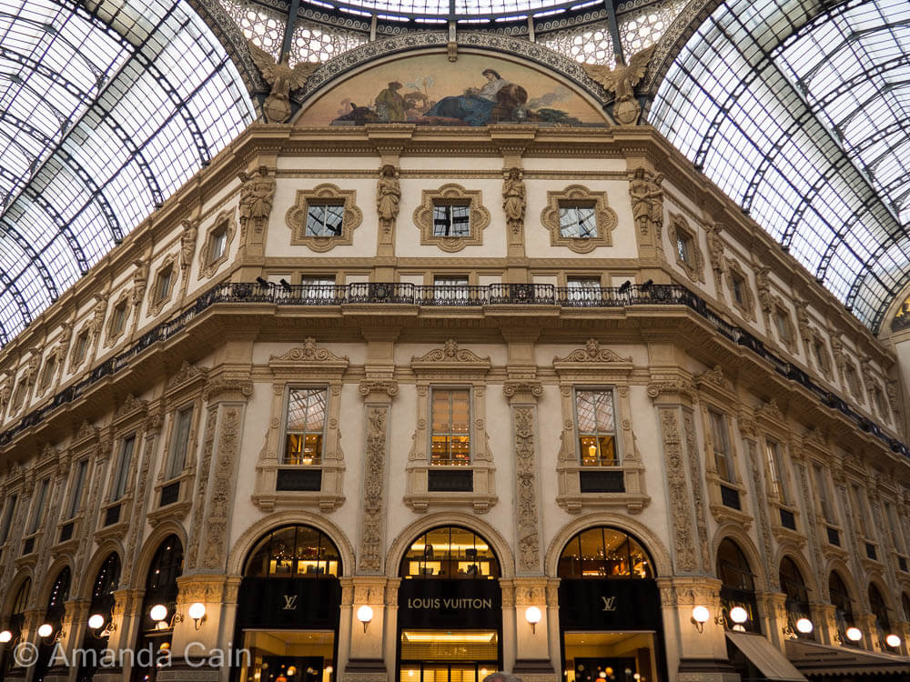 The most famous shopping district in Milan: Galleria Vittorio Emanuele II.