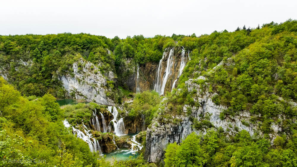 The tallest waterfalls in Plitvička Lakes.