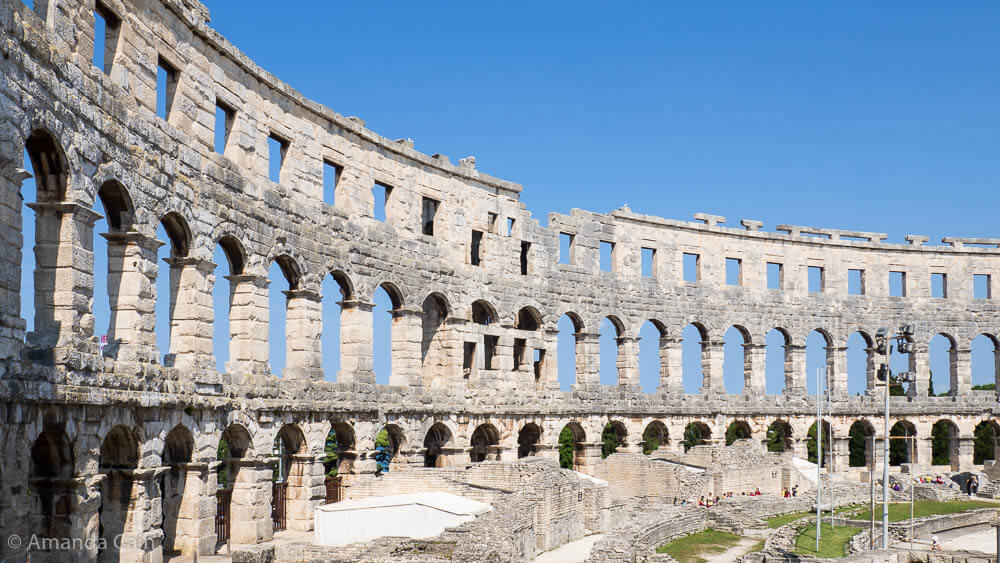 The Ancient Roman amphitheatre in Pula.