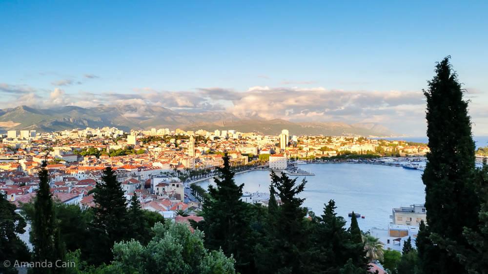 The town of Split in the golden sunset light.
