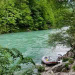 Rafting along the Tara River can be an adventurous experience in spring with Class IV rapids.