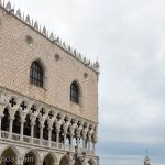 The Doge's Palace and the Lion of St Mark on a column.