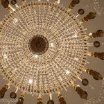 A sparkling chandelier in Venice's La Fenice opera house.