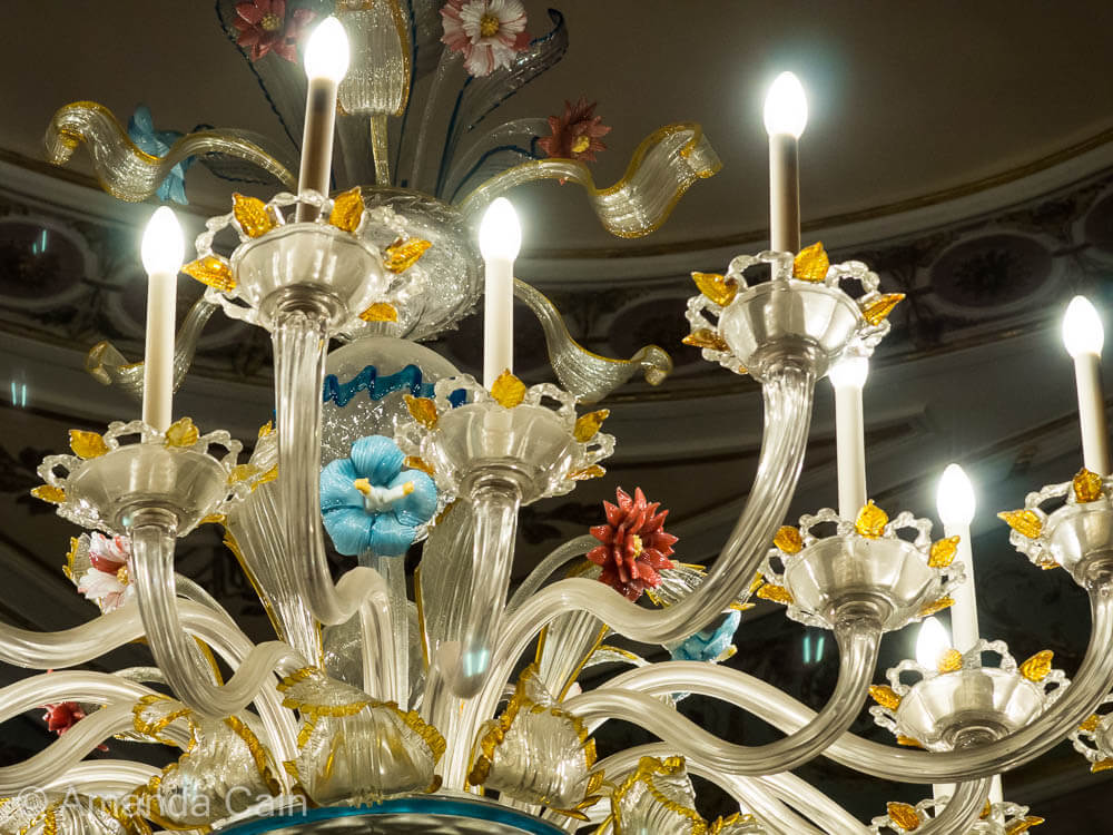 The glass-blowers of Murano are famous for the great skill in making things like this glass chandelier.