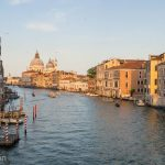 Sunset over the Grand Canal of Venice.
