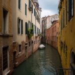 Some of the canals in Venice can get very narrow.
