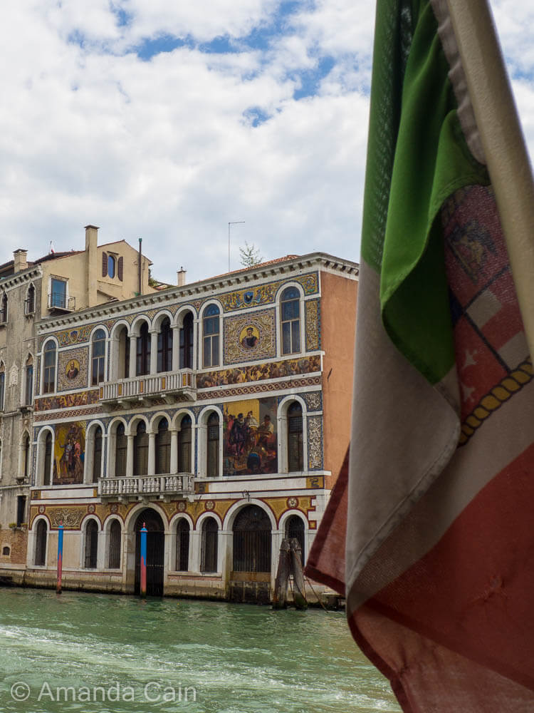 The palaces along the Grand Canal all compete with each other to be the grandest.
