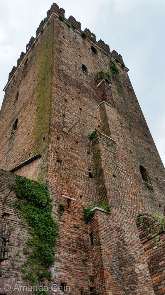 One of the towers of Castelvecchio in Verona.