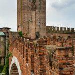 Bridge over the river to Castelvecchio in Verona.