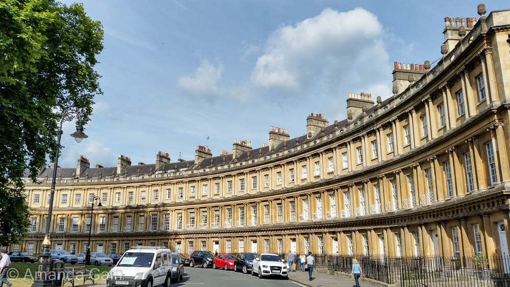 The Georgian townhouses of Bath Circus.