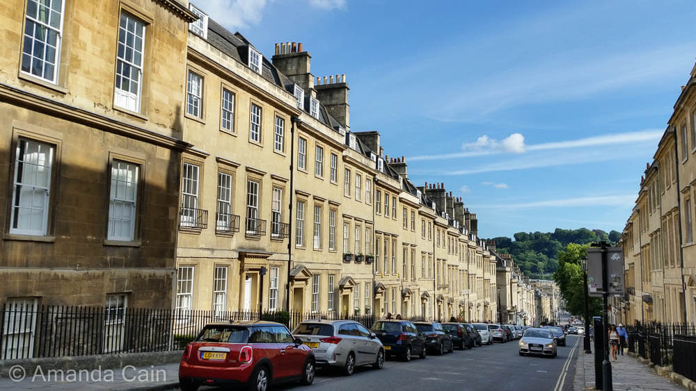 Georgian townhouses, this style of building is found all over Bath.