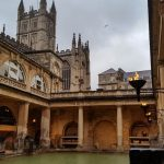 The ancient Roman baths that give the town of Bath its name.
