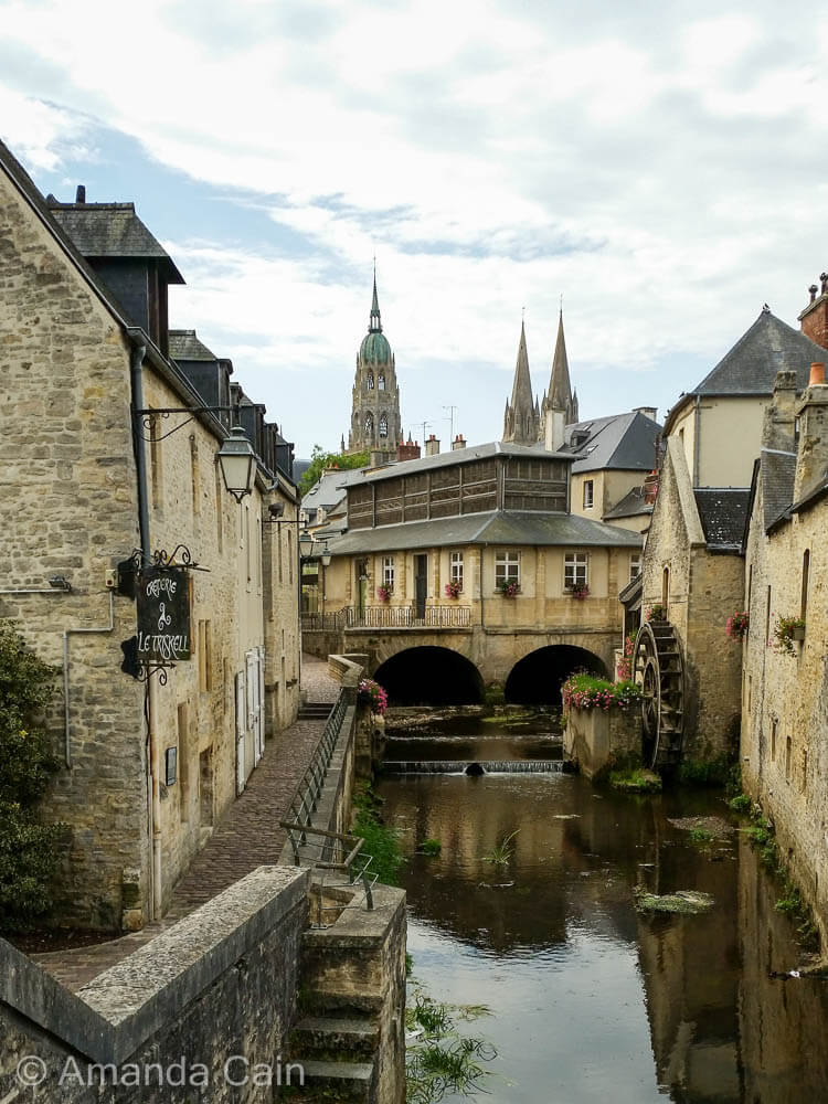 The charming old town of Bayeux.