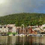 The old town of Bergen after one of its (frequent) rainstorms.