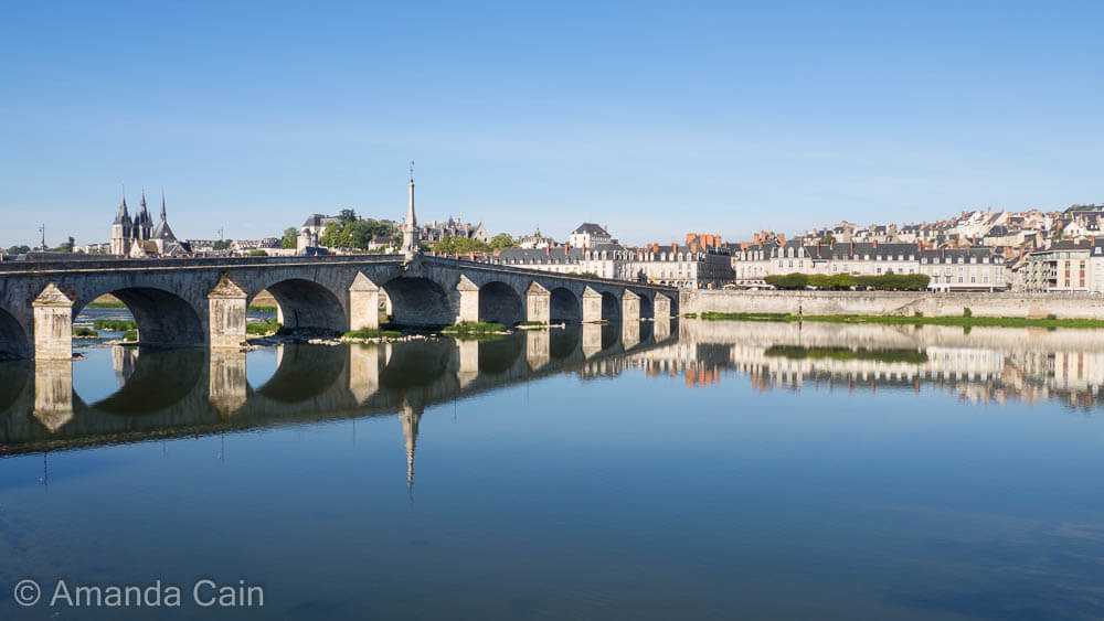 Early morning calm on the Loire River at Blois.