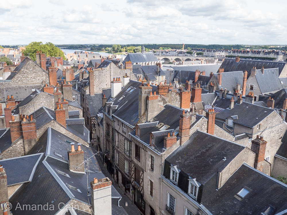 Rooftops of the old town of Blois.
