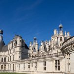 The short side of the massive Chambord Chateau.