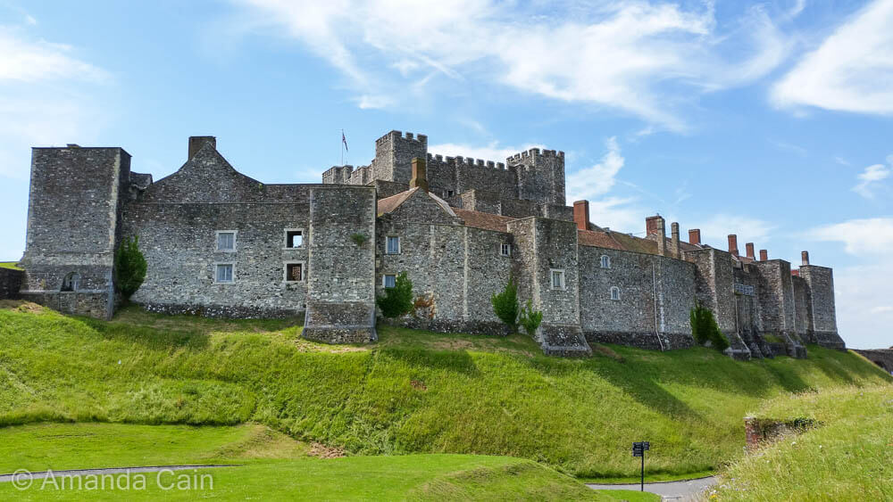 The inner fortifications of Dover Castle.
