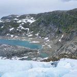 View of Folgefonna National Park from Folgefonna Glacier.