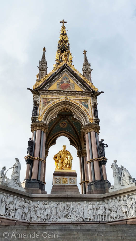 The Albert Memorial in London, built by Queen Victoria in memory of her beloved husband.