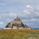 The fortified monastery of Mont Saint-Michel.