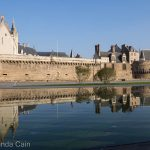 Nantes Chateau perfectly reflected in the morning light.