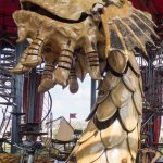 A sea monster in the carousel of Les Machines de l'Ile.