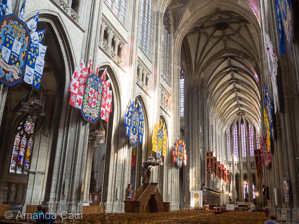 The cavernous interior of Orleans Cathedral.