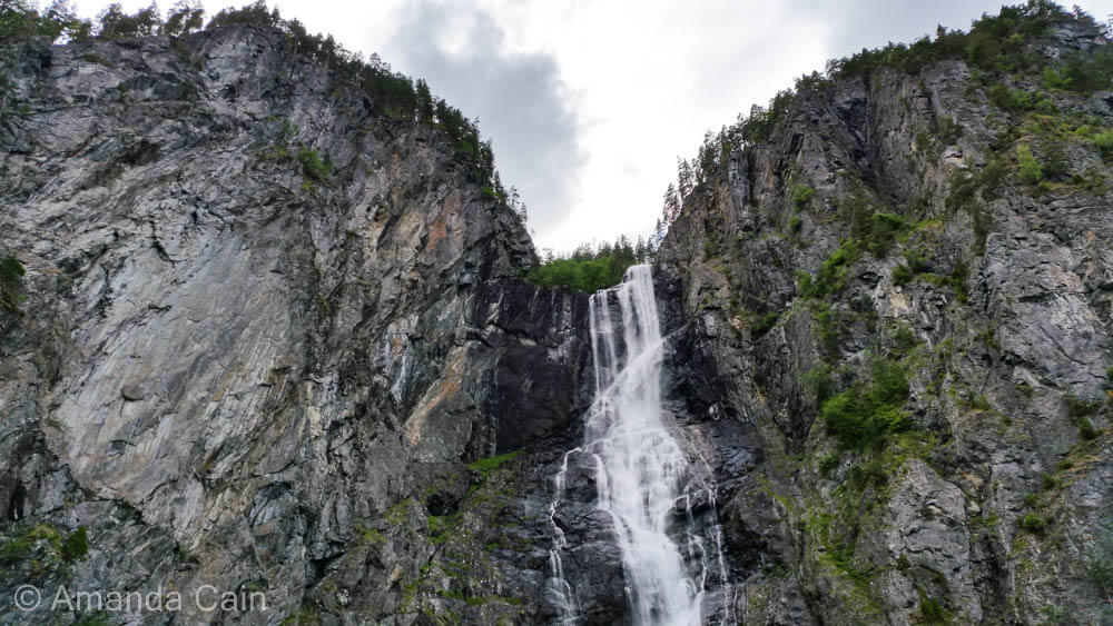 Waterfalls are frequent sights all along Sognefjord, Norway's largest and deepest fjord.