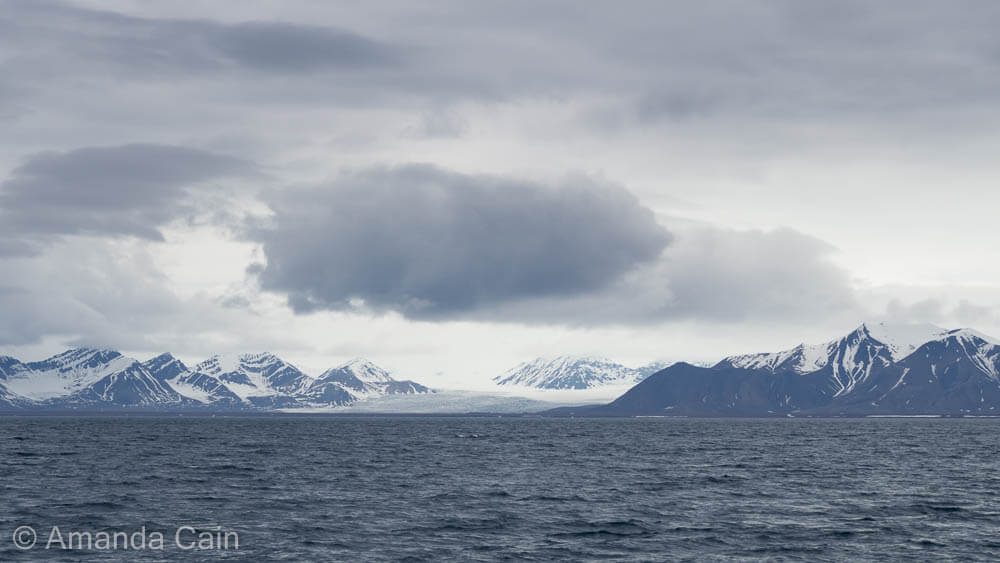 The landscape of Svalbard is full of snow and ice, even in the summer.