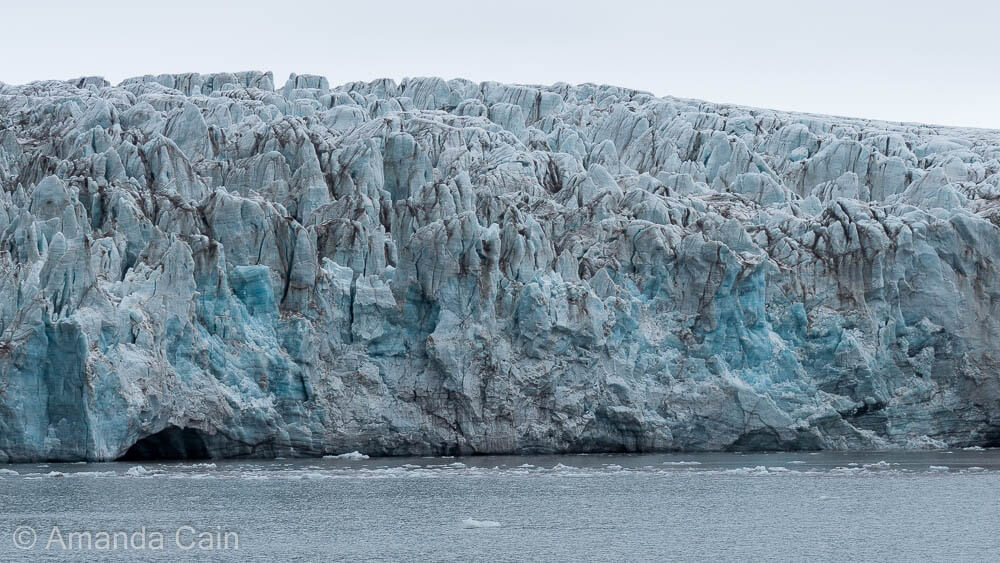 A close up of Svalbard's Esmark Glacier.